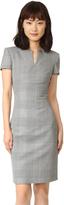 Gareth Pugh Short Sleeve Glen Plaid Dress