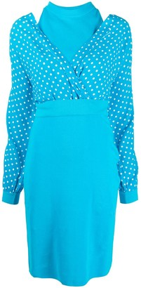 Boutique Moschino Polka-Dot Top Midi Dress