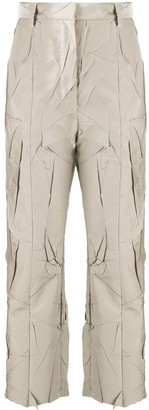 MM6 MAISON MARGIELA Crinkled Cropped Trousers