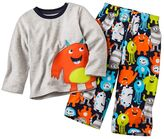 Carter's monster microfleece pajama set - baby