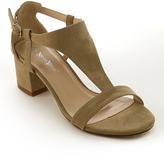 Beige T-Strap Roxane Sandal