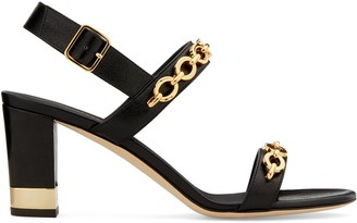 Giuseppe Zanotti Sandrine 70mm chain-embellished sandals