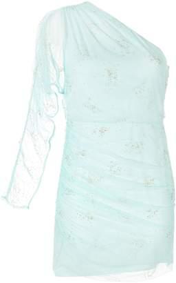 Manning Cartell sheer tulle one shoulder dress