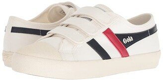 Gola Coaster Velcro (Off-White/Navy/Red) Women's Shoes