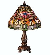 Meyda Lighting Meyda Tiffany 26633 13 Inch H Poinsettia Mini Lamp