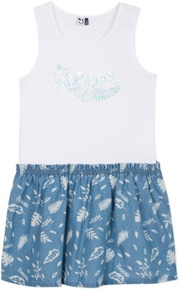 3 Pommes Tropical Print Dress, 3-14 Years
