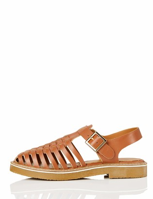 Find. Gumsole Weave Leather Closed Toe Sandals