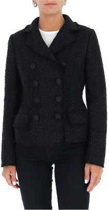 Dolce & Gabbana Double-Breasted Tweed Blazer