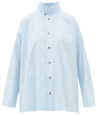 eskandar Double-collar Cotton-poplin Shirt - Light Blue