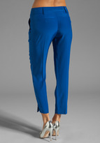 Milly Solid Silk Nicole Pant