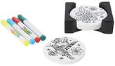 Dexam Just Add Colour Friends Garden Coasters, Set of 4, White/Black