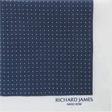 Richard James Polka-dot And Border Cotton Pocket Square