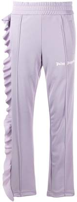 Palm Angels asymmetric ruffle trim track pants