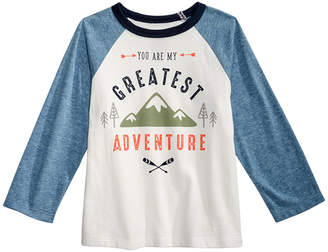 First Impressions Baby Boys Cotton Colorblocked Raglan Graphic-Print T-Shirt