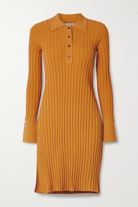 Deveaux Ribbed-knit Tunic - Saffron