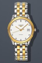 Longines Flagship Les Grandes Classiques in Steel and 18K Gold Diamond Markers Men's Watch