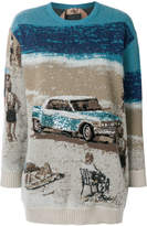 No.21 cadillac print sweater