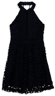 Bardot Junior Girl's Gemma Lace Halter Dress