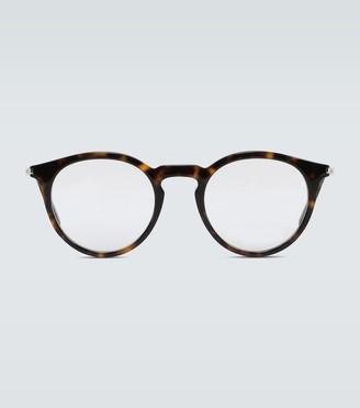 Saint Laurent Circular frame acetate glasses