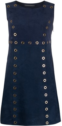 Alberta Ferretti Sleeveless Flared Mini Dress