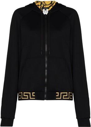 Versace Baroque print lined hoodie