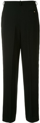 Chanel Pre Owned Side-Logo Tailored Trousers