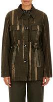 Proenza Schouler Women's Striped Canvas Safari Jacket-GREEN