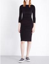 James Perse Boatneck stretch-velvet dress