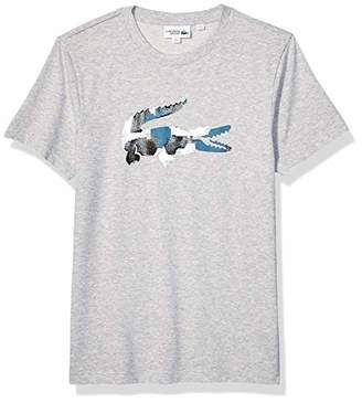 Lacoste Men's Sport Short Sleeve Textured Logo TEE