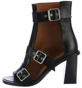 Damir Doma Leather Buckle Ankle Boots