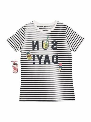 Name It Girl's Nkffiorio Ss Top T-Shirt