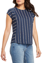 Jaeger Block Stripe Top, Navy