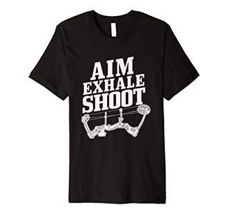 Hunter Archery Bow Aim Exhale Shoot Deer Hunting Premium T-Shirt