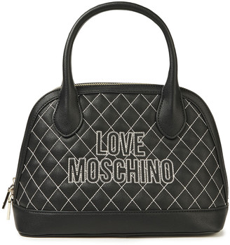 Love Moschino Quilted Faux Textured-leather Shoulder Bag