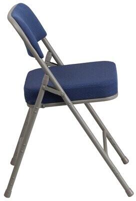 Symple Stuff Laduke Premium Curved Padded Fabric Folding Chair Symple Stuff