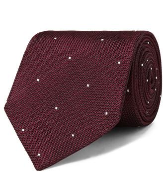 Drakes 8cm Polka-Dot Silk-Jacquard Tie