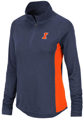 Colosseum Women Illinois Fighting Illini Albi Quarter-Zip Pullover