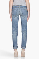 Current/Elliott Faded blue The Rolled Skinny Low Rise jeans