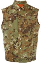 DSQUARED2 camouflage denim-style vest - men - Polyamide - 46