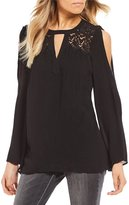 Jessica Simpson Padma Cold Shoulder Bell Sleeve Top