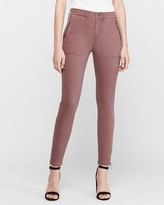 Express High Waisted Zip Pocket Utility Ankle Pant