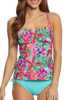 Beach Diva Floral Tankini Top
