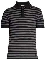 Saint Laurent Striped Cotton-piqué Polo Shirt