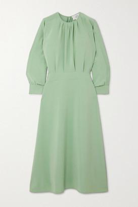 Victoria Victoria Beckham Gathered Crepe Midi Dress - Mint