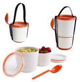 "Black + Blum Lunch Pot – Orange - 4.53""L x 4.53""W x 7.48""H"