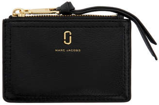 Marc Jacobs Black The Softshot Top Zip Wallet