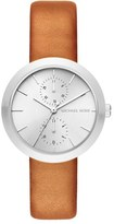 MICHAEL Michael Kors Women's 'Garner' Multifunction Leather Strap Watch, 39Mm