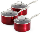 Marks and Spencer Metallic Effect 3 Piece Saucepan Set