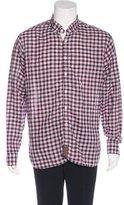 Billy Reid Plaid Linen-Blend Shirt