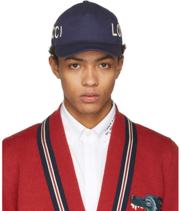 Gucci Navy Loved Cap